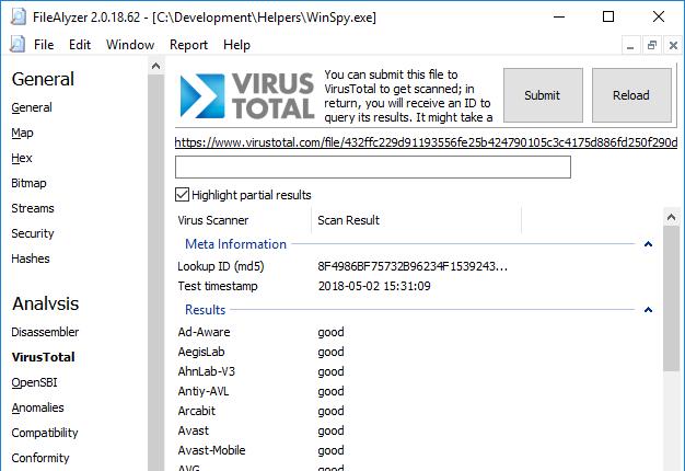 FileAlyzer - Spybot Anti-Malware and Antivirus : Spybot Anti