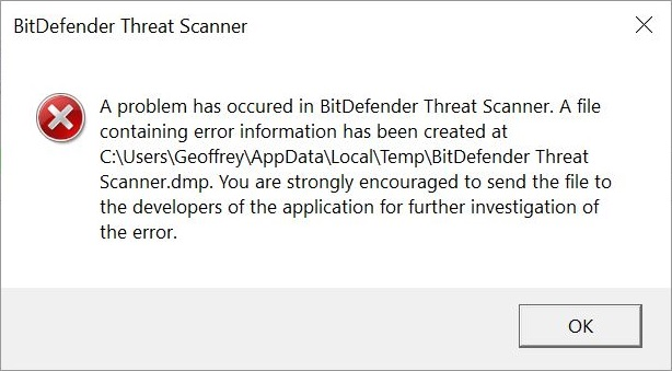 Bitdefender_Threat_Scanner_Error Message